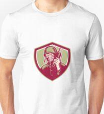 World War Two Soldier American Talk Radio Crest T-Shirt