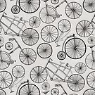 Monochrome Vintage Bicycles by TigaTiga