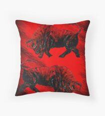 RED BULLS  Throw Pillow
