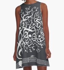 The Sound of Nature In Motion - White A-Line Dress