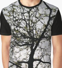 Happiness, Building, Skyscraper, New York, Manhattan, Street, Pedestrians, Cars, Towers, morning, trees, subway, station, Spring, flowers, Brooklyn Graphic T-Shirt