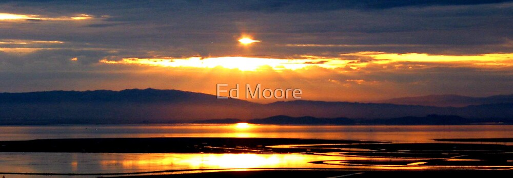Sunrise Over San Francisco Bay  by Ed Moore