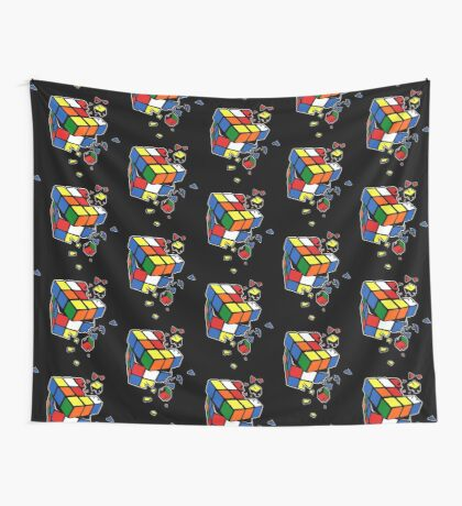 Exploding Cube Wall Tapestry