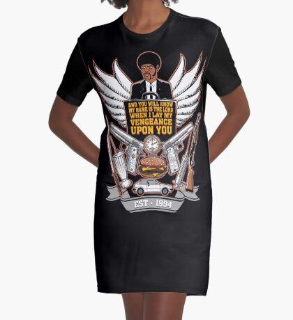 Pulp Heraldry Graphic T-Shirt Dress