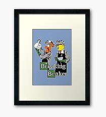 Breaking Beaker Framed Print