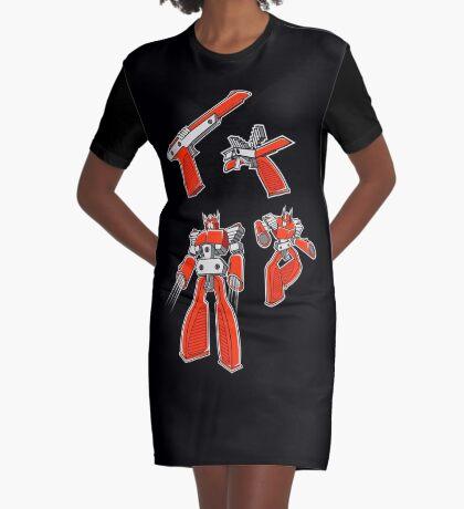 Z.A.P Wave Graphic T-Shirt Dress
