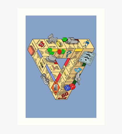 The Impossible Board Game Art Print