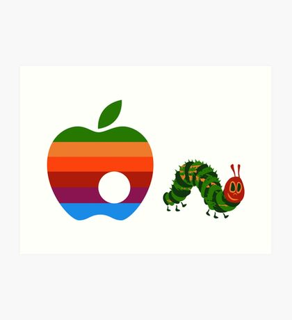 Very Hungry for Apple Art Print