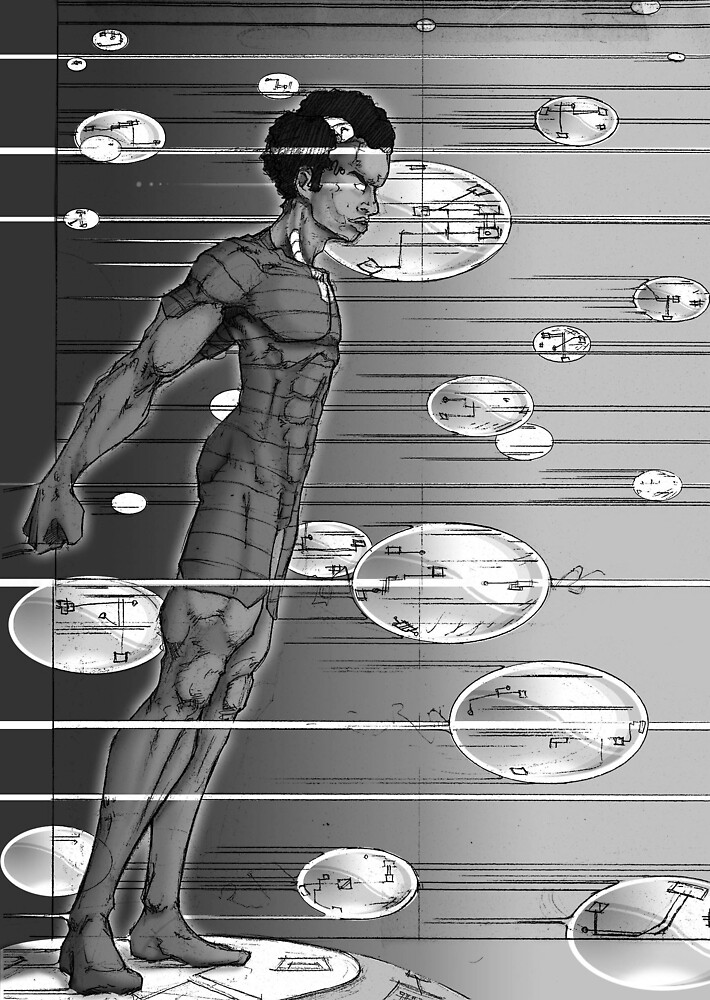 Graphic Novel Image - Robbie Digital on Digital Data Comet by beyonder
