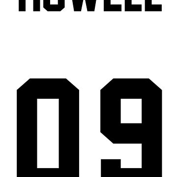 danisnotonfire Jersey (black on white) by Lucy-Bianchi
