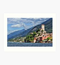 Castello Scaligeri, Malcesine, Lake Garda Art Print