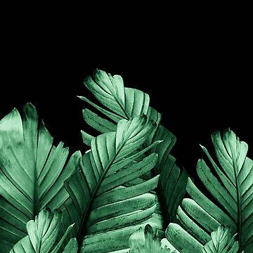 Green Banana Leaves Dream #2 #tropical #decor #art by anitabellajantz