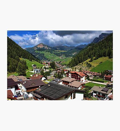 Above the Rooftops, The Dolomites Photographic Print