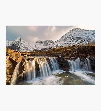 Fairy Pools, Isle of Skye, in Winter Photographic Print
