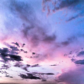 pink and blue sky by katerina-ez