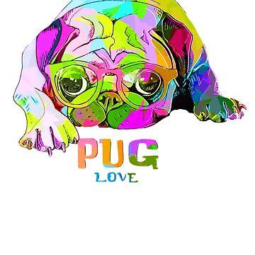 Pug Magic Wizard Pug Funny Pug  by loveteens