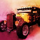 31 Model A Ford Fiery Yet Friendly WaterColour by ChasSinklier