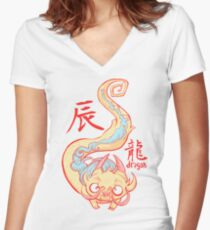 The Year of the Dragon Women's Fitted V-Neck T-Shirt