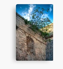 Window in a Bastion HDR Canvas Print