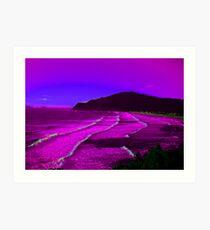Ocean Magenta Electric Art Print