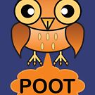 The Farting Owl - Pootin' not Hootin' by asktheanus