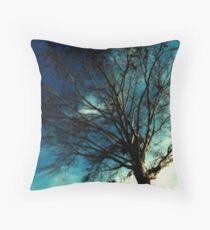 Midnight Tree Throw Pillow