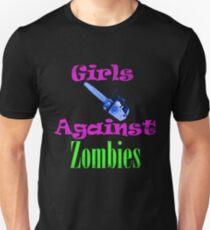 Girls Against Zombies  Unisex T-Shirt
