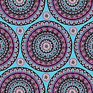 Berry Bohemian Pattern  by Sarah Oelerich