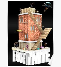 Fortnite Battle Royale Tower with Loot and Skins Poster