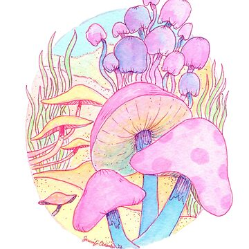Very Bright Mushrooms by JenniferCharlee