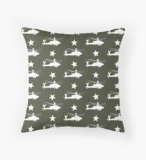 AH-64 Apache Helicopter Pattern Floor Pillow