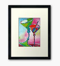 Drunk Martinis Framed Print