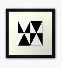 Small World Pattern Black Framed Print