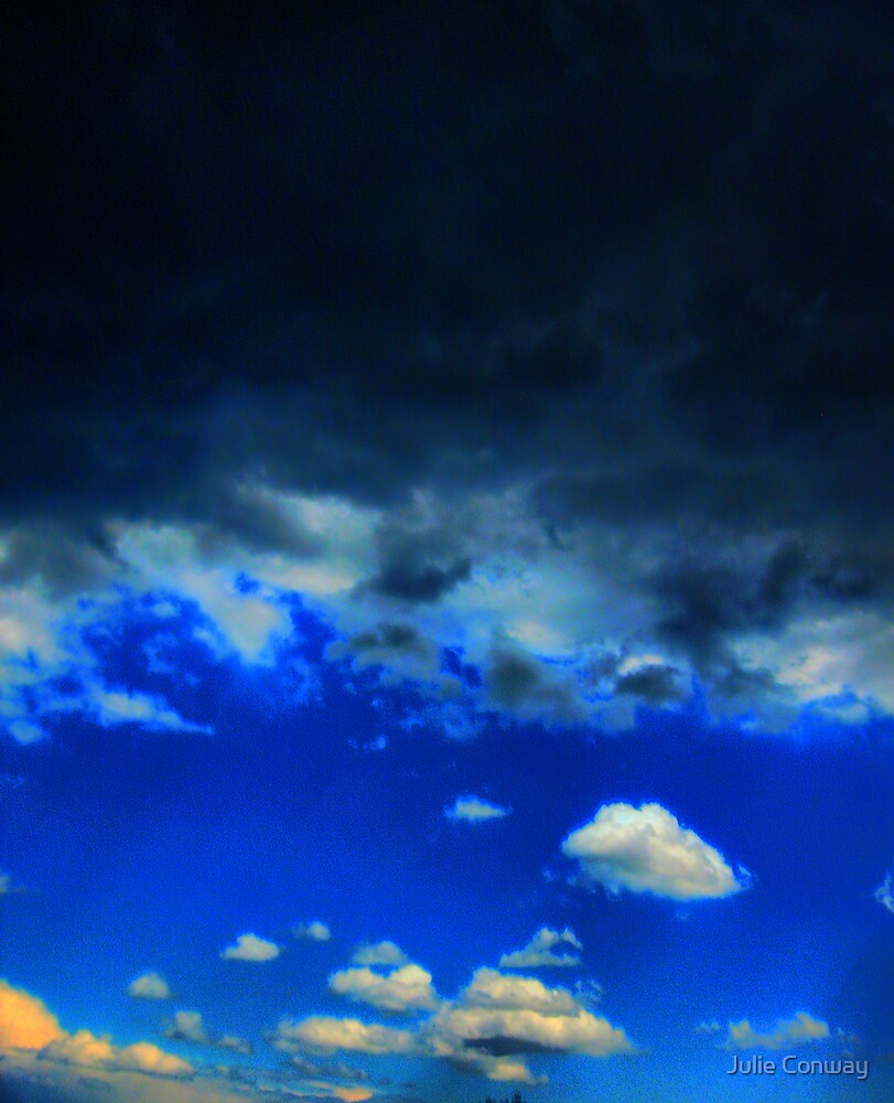 Storm Moving Away From Me - HDR by Julie Conway