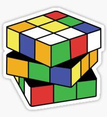 Retro Puzzle Love Sticker