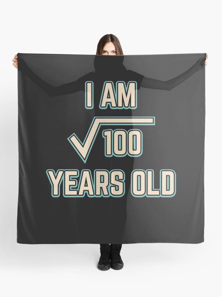 10th Birthday Gift Square Root Of 100 10 Year Old Boy Girl Bday Present Scarf
