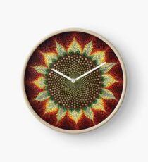 Sacred Geometry Sunflower Clock