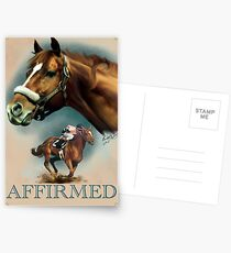 Affirmed with Name plate Postcards