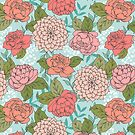 Spring Floral Pattern by latheandquill