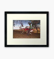 Bike Riding Framed Print