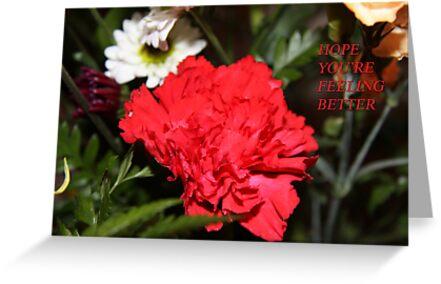 hope your feeling  better ....card by gypsykatz