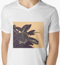 Golden botanical leaves Men's V-Neck T-Shirt