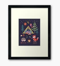 Woodland Animals Campout Framed Print