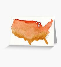 America the Gilded Greeting Card