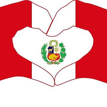We Heart Peru Patriot Flag Series 1.0 by carbonfibreme