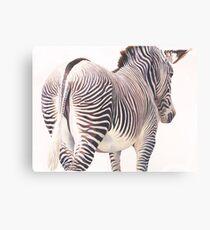 """Wrong Way"" Zebra Wildlife Watercolor Canvas Print"