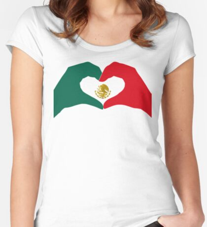 We Heart Mexico Patriot Flag Series  Fitted Scoop T-Shirt