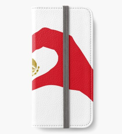 We Heart Mexico Patriot Flag Series  iPhone Wallet