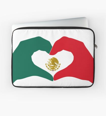 We Heart Mexico Patriot Flag Series  Laptop Sleeve