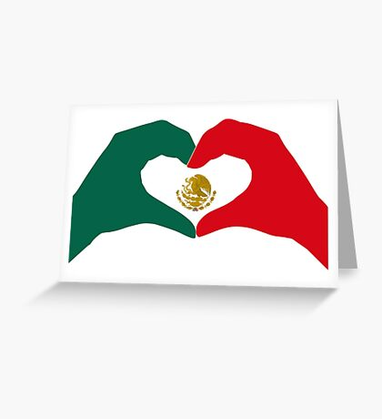 We Heart Mexico Patriot Flag Series  Greeting Card
